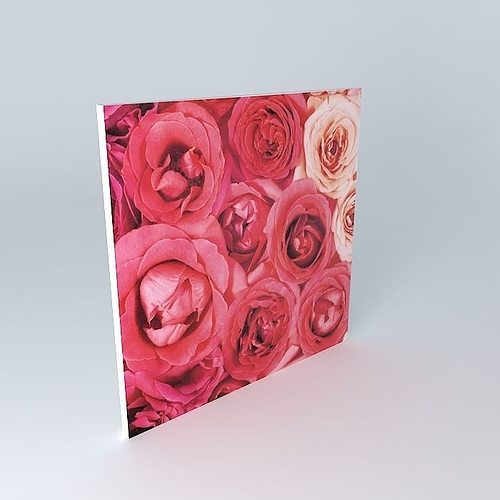 La toile rosa maisons du monde 3d model max obj 3ds fbx stl dae - Toile maison du monde ...