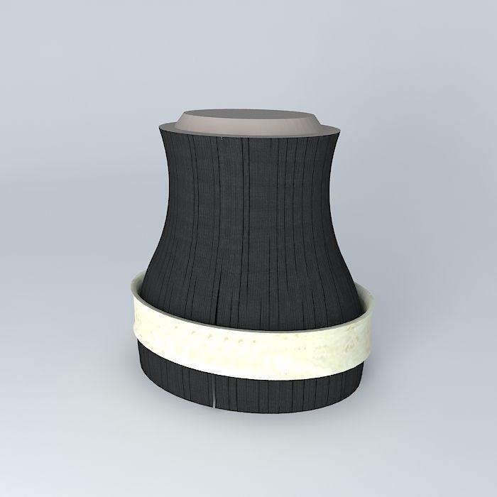Ladies Wide Fashion Belt Ivory free 3D Model MAX OBJ 3DS ...