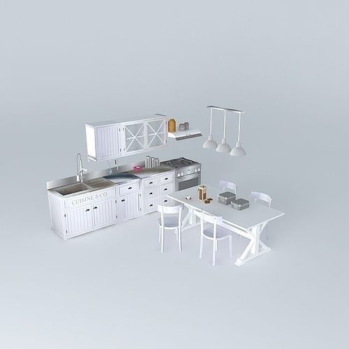 newport cooking houses of the world 3d model max obj mtl 3ds fbx stl dae 1