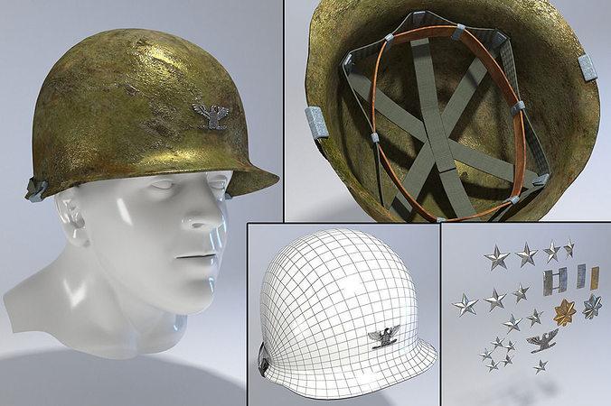 7c82ad61fda usa army helmet from korea war 3d model max obj mtl fbx 1 ...