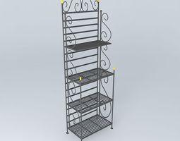 MANON shelf black 3D