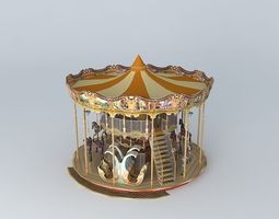 3D model Venetian Carousel Blackpool North Pier