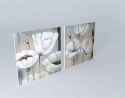 3D model The Flora Canvas Maisons du Monde