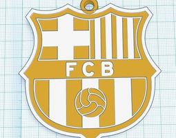 barcelona fc pendant for car or keychain 3d print model