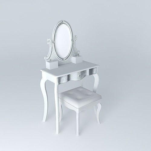 diamant dressing table maisons du monde 3d model