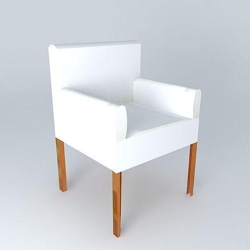 Armchair White PVC LOUNGE houses the world 3D Model MAX OBJ 3DS FBX STL DAE