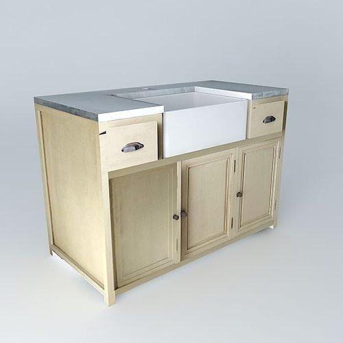 Zinc Sink Cabinet Houses The World 3D Model