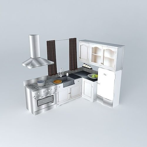kitchen saint rrémy the world homes 3d model max obj 3ds fbx stl dae 1