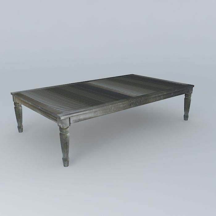 Gray Coffee Table Cyprus Houses The World 3d Model Max Obj 3ds Fbx Stl Dae 1