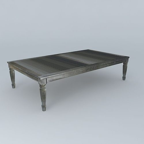 Great Gray Coffee Table CYPRUS Houses The World 3D Model MAX OBJ MTL 3DS FBX STL  DAE