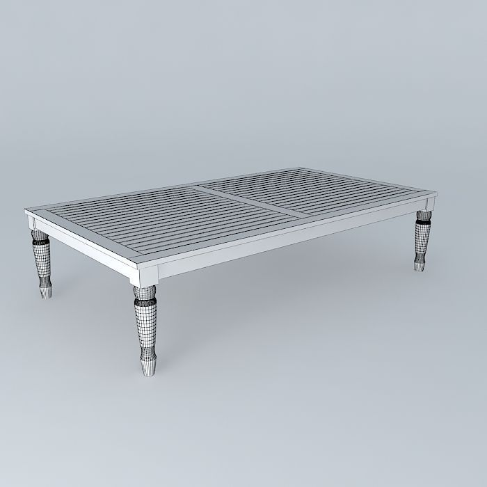 Gray Coffee Table Cyprus Houses The World 3d Model Max Obj 3ds Fbx Stl Dae 4