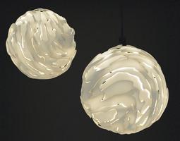 Flo Hanging light Shade Big 3D print model
