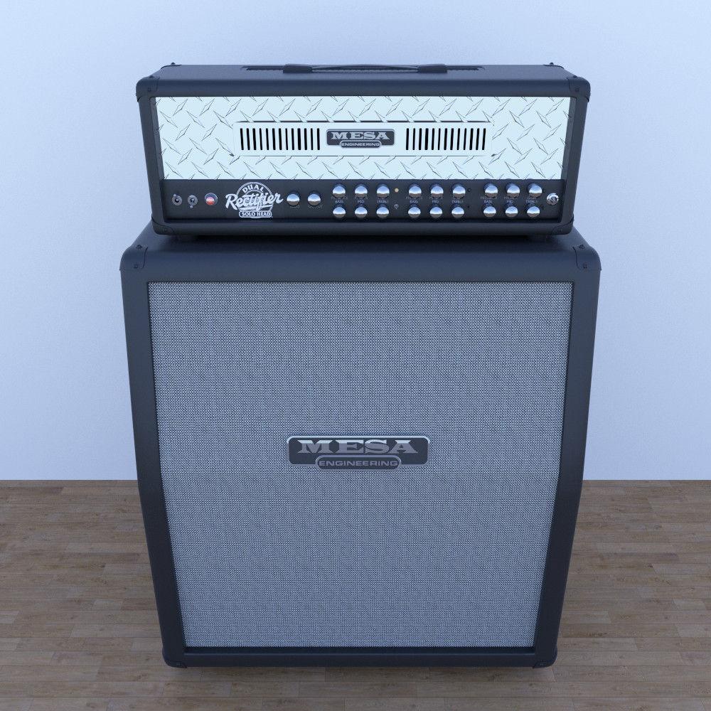 Mesa Boogie Guitar Cabinet Model Obj Mtl Fbx
