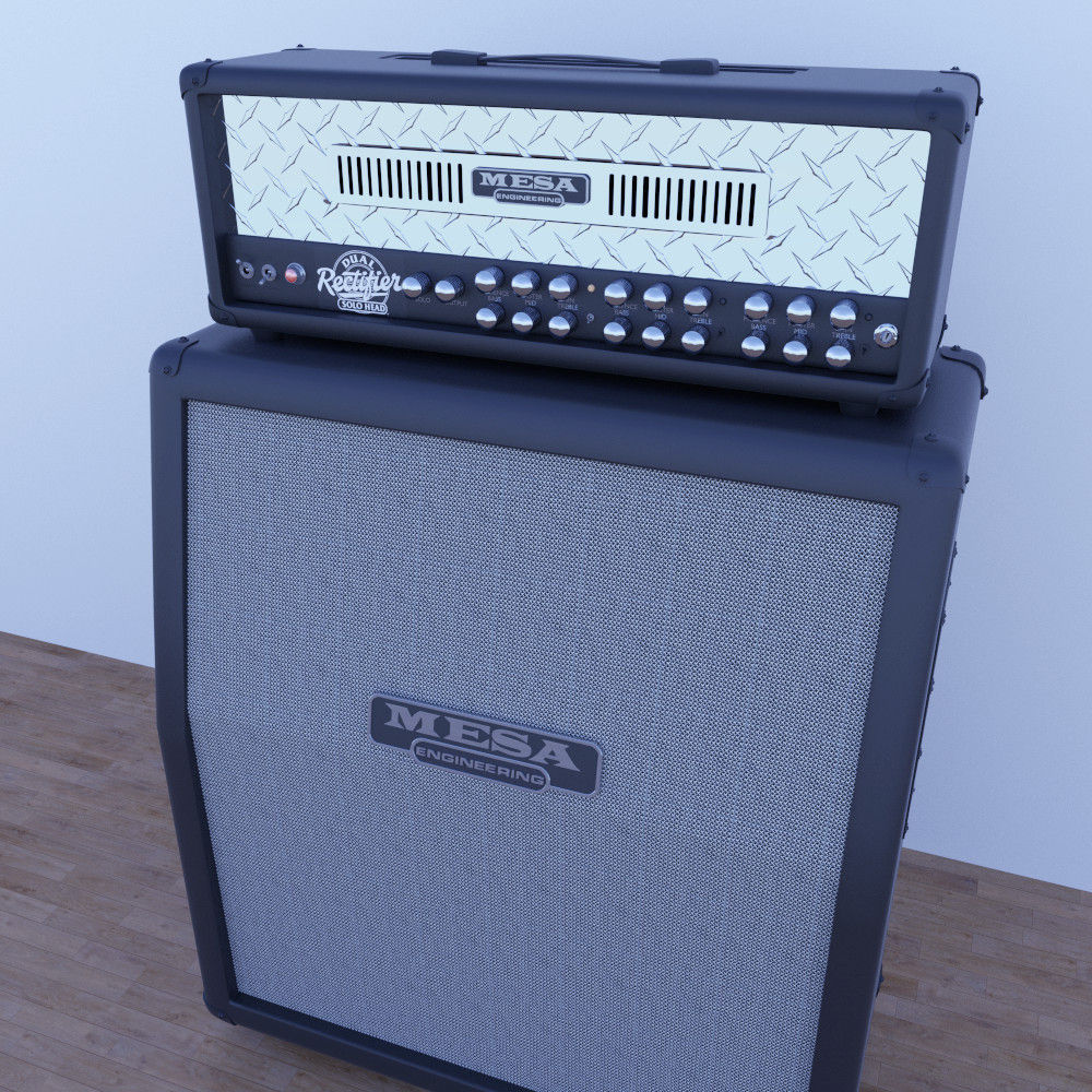 mesa boogie guitar cabinet 3d model obj fbx. Black Bedroom Furniture Sets. Home Design Ideas