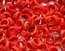 3d print model i love holland rings 4xd20 40xd18 44xd16