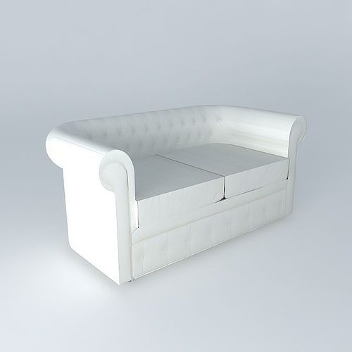 Chesterfield Sofa White Houses Of The World 3d Model Max Bip Obj Mtl