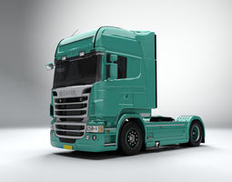 3d asset low-poly scania r560