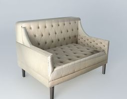 3D model 2 seater bench MARILYN houses the world