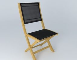 3D model Black chair CAPRI houses the world
