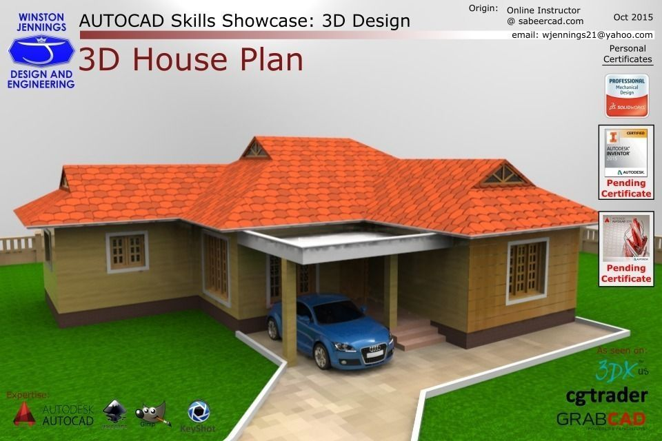 Free scale model house plans for Model house plan