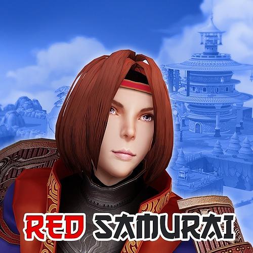 red samurai - bro 3d model fbx 1