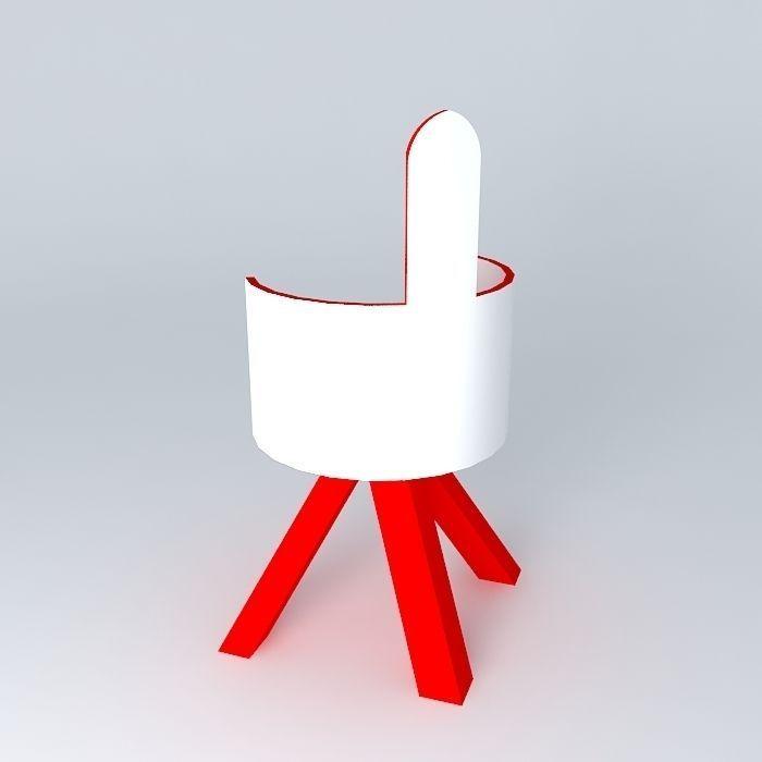 Chaise modern chair free 3d model max obj 3ds fbx stl dae for Chaise modele