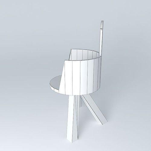 Chaise modern chair free 3d model max obj 3ds fbx stl dae for Chaise 3d dessin