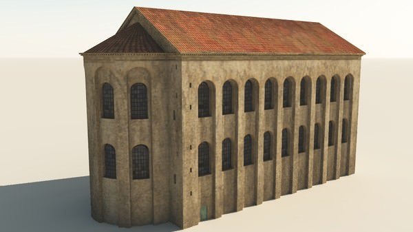 Aula palatina basilica of constantine 3d model obj lwo - Architecture 3d vue 3d ...