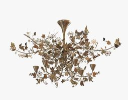 Porta romana -IVY SHADOW CHANDELIER - FOREST GOLD 3D Model