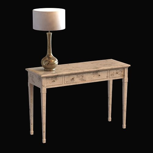 Leporello Contemporary Table Design And Table Lamp 3D Model