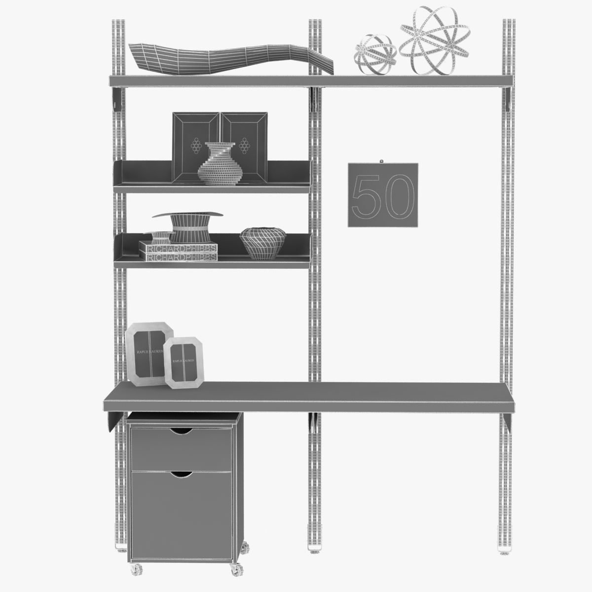 Food Storage Shelving System 3d Model 3ds Max Files Free
