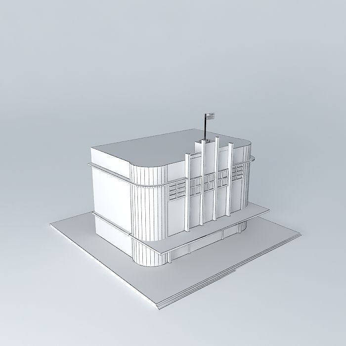 American Art Deco Building 3D | Cgtrader