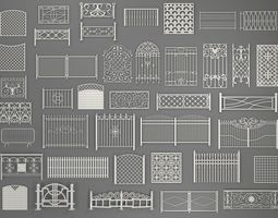 3D Fences - 40 pieces - collection-2