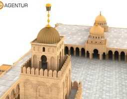 3D Great Mosque of Kairouan Tunisia