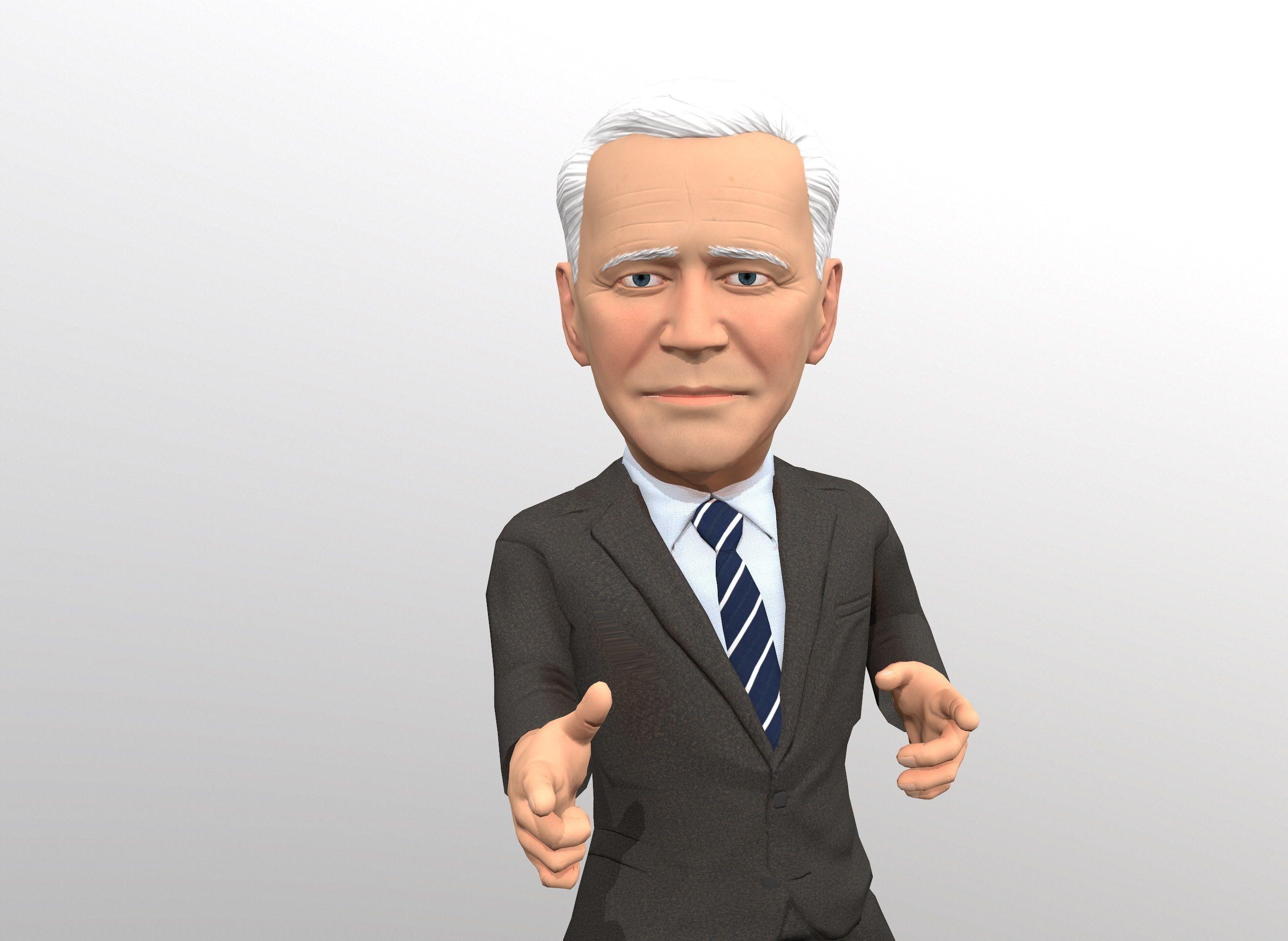 Joe Biden stylized 3D caricature
