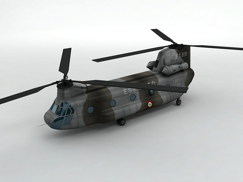 CH47 Chinook Helicopter Italian Army