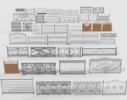 3D Fences - 39 pieces - collection-3