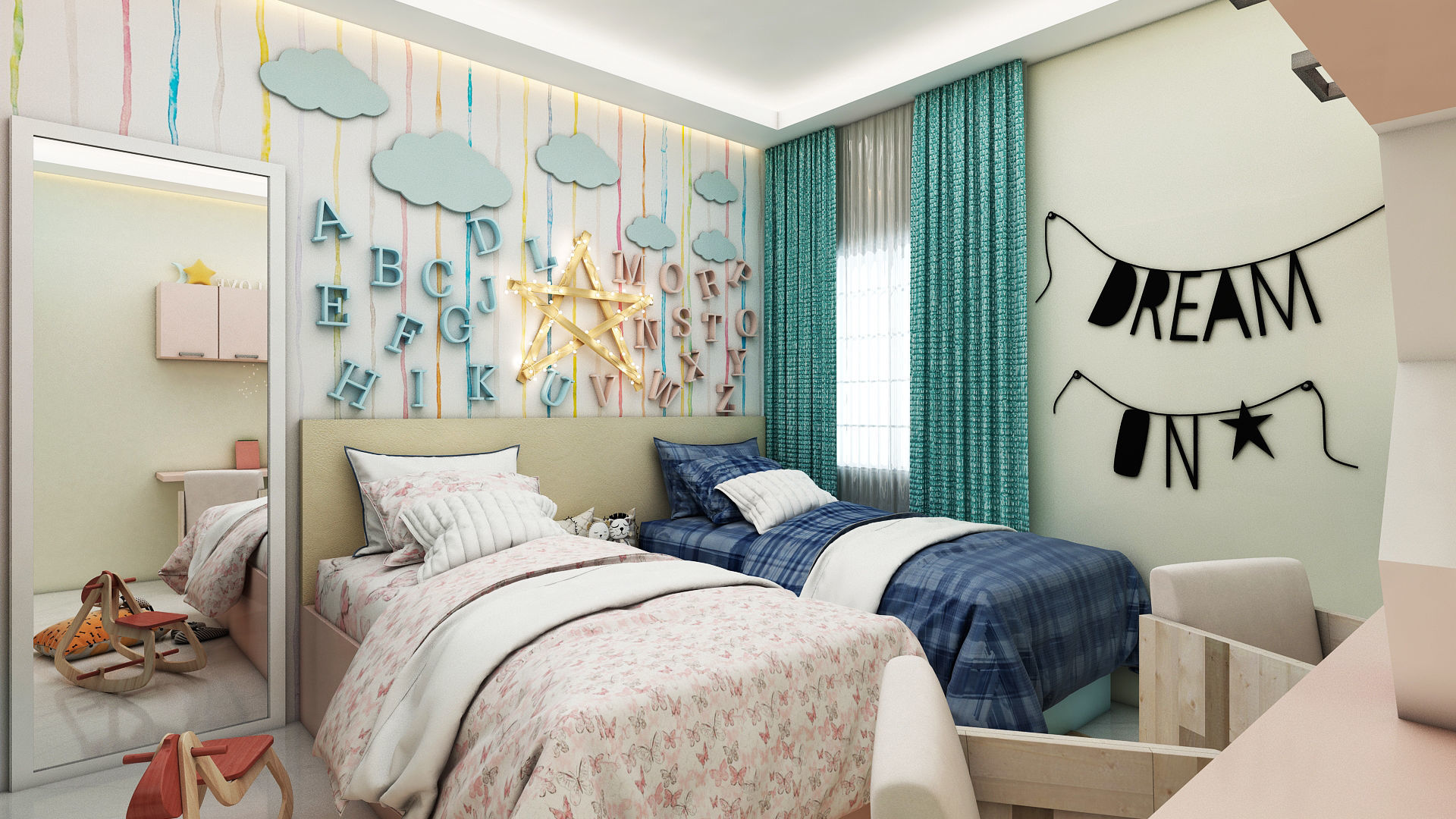 Modern Kids Bedroom 3d Furniture Cgtrader