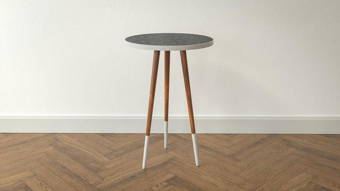 design side table mina 3d model low-poly obj mtl 3ds fbx c4d dxf stl 1
