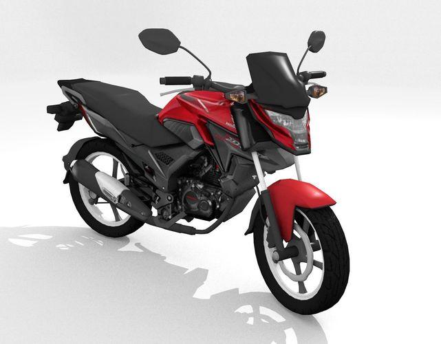 motorcycle honda x 3d model obj mtl 3ds fbx stl blend dae 1