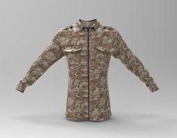 3D asset Desert Camouflage Blouse