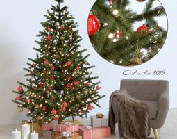 Cristmas tree and armchair 3D