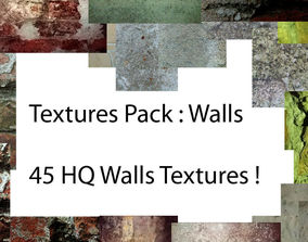 3D model dirty Wall Textures Pack 1