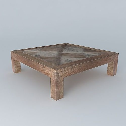 coffee table bruges maisons du monde 3d model
