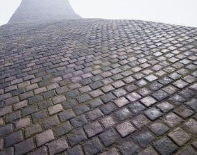 3D asset Procedural cobblestone material