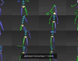 3D goalkeeper total package
