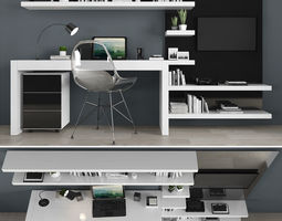 3D model Tv stand and workzone