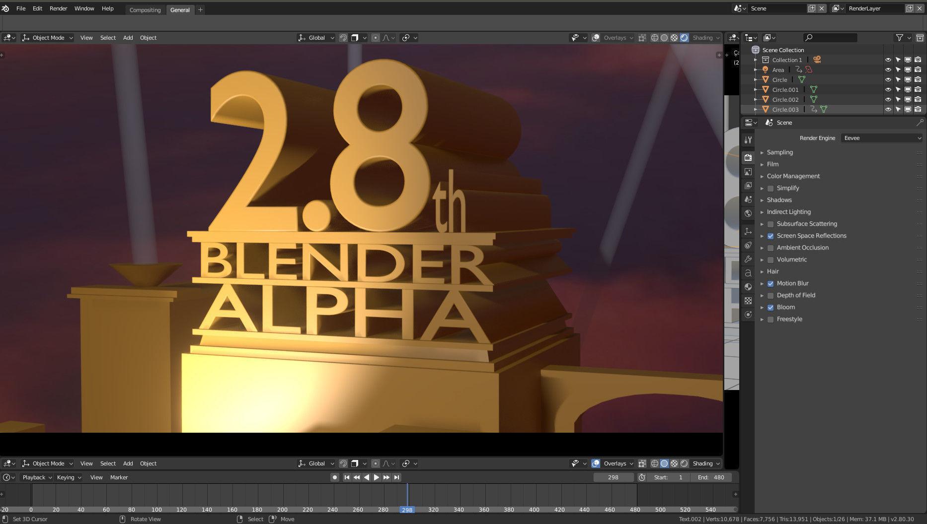20th century Fox Blender 28 template | 3D model