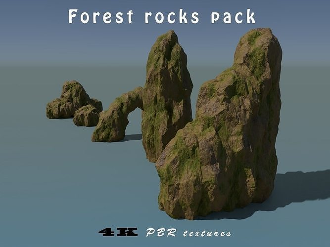 forest rocks pack 3d model max obj mtl fbx blend dae 1