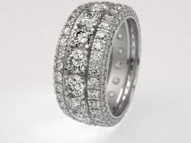 diamond tire ring  3d model stl 1